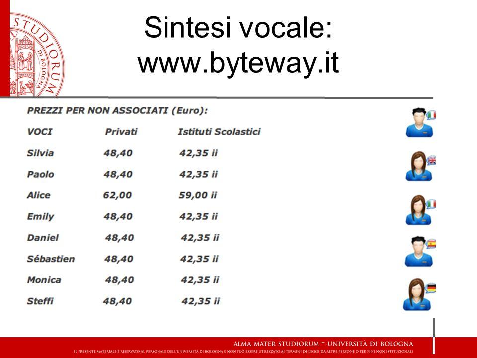 Sintesi vocale: www.byteway.it