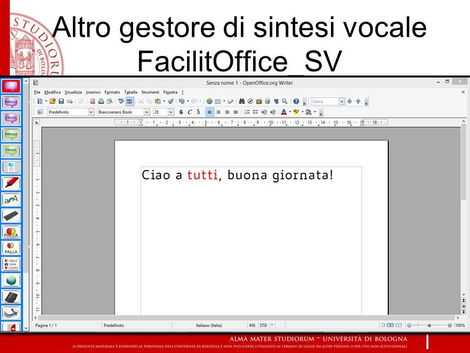 Altro gestore di sintesi vocale FacilitOffice_SV