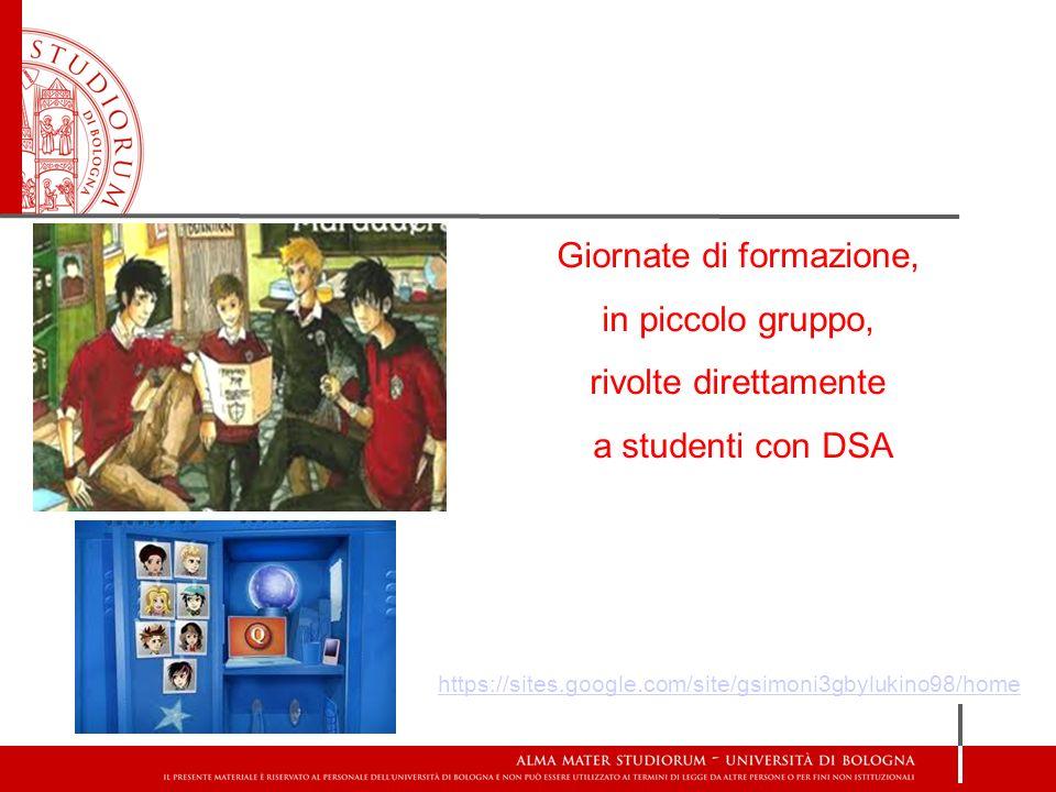 Giornate di formazione, in piccolo gruppo, rivolte direttamente a studenti con DSA https://sites.google.com/site/gsimoni3gbylukino98/home