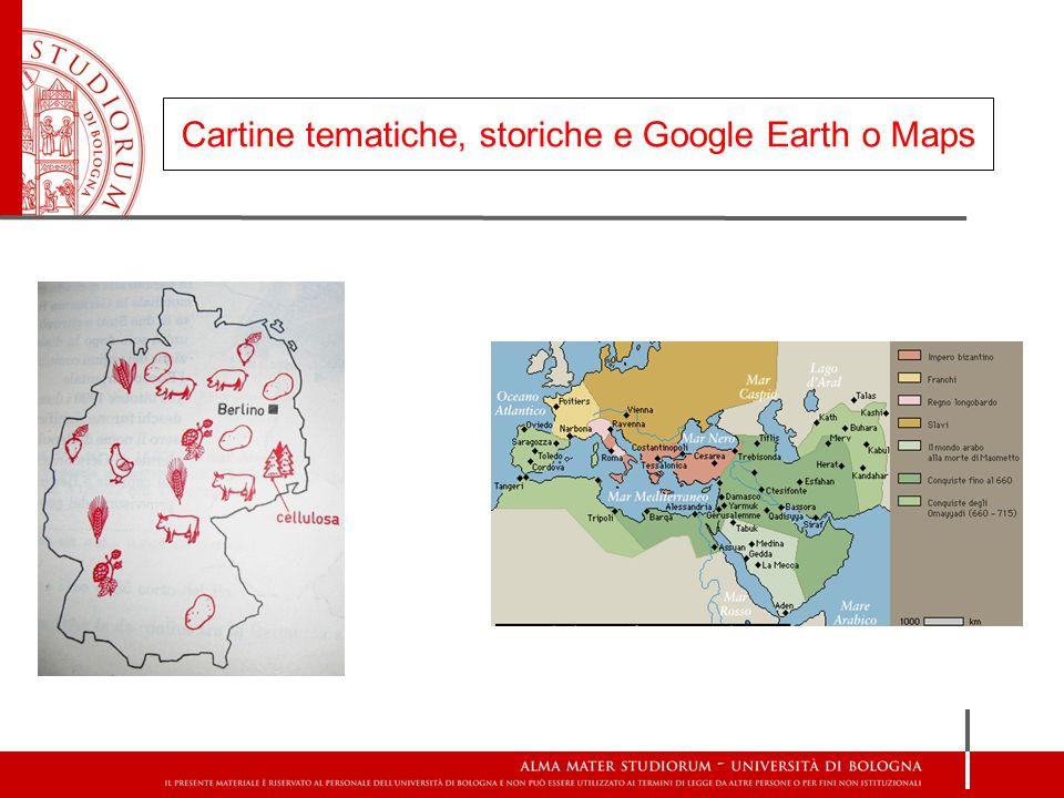 Cartine tematiche, storiche e Google Earth o Maps Google earth 3D