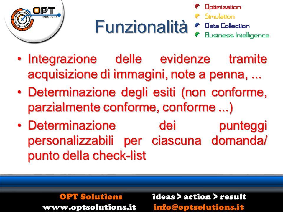 Funzionalità Integrazione delle evidenze tramite acquisizione di immagini, note a penna,...Integrazione delle evidenze tramite acquisizione di immagin