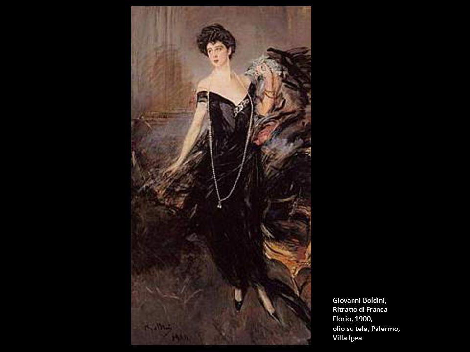 Giovanni Boldini, Ritratto di Franca Florio, 1900, olio su tela, Palermo, Villa Igea