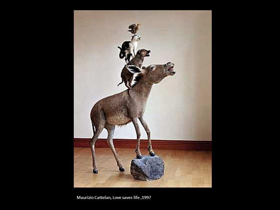 Maurizio Cattelan, Love saves life,1997