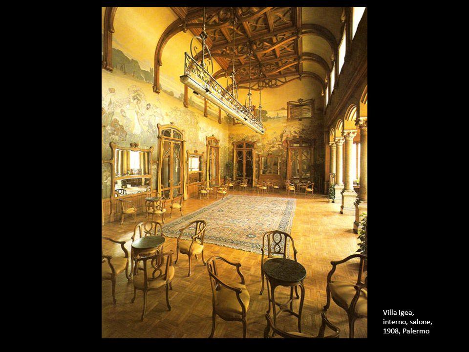 Villa Igea, interno, salone, 1908, Palermo