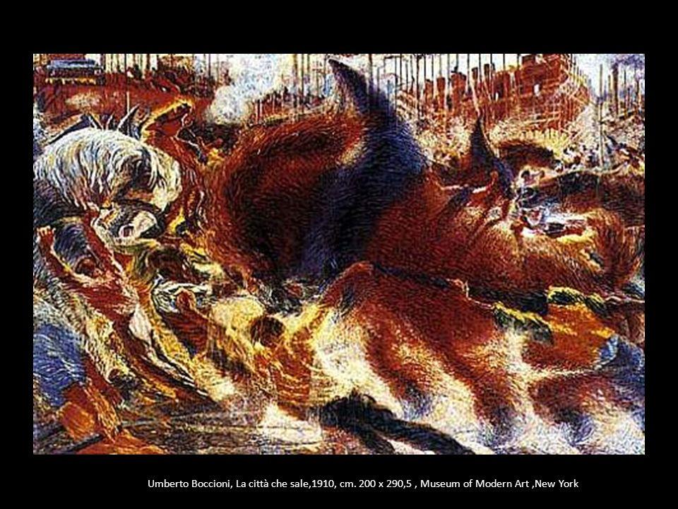 Umberto Boccioni, La città che sale,1910, cm. 200 x 290,5, Museum of Modern Art,New York
