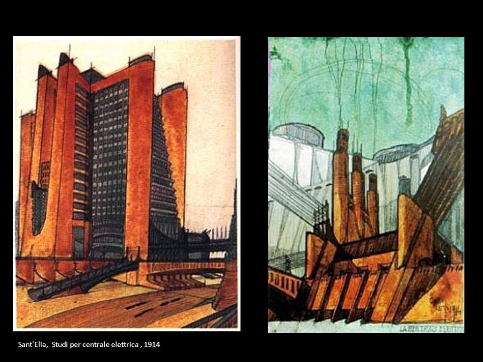 Sant'Elia, Studi per centrale elettrica, 1914