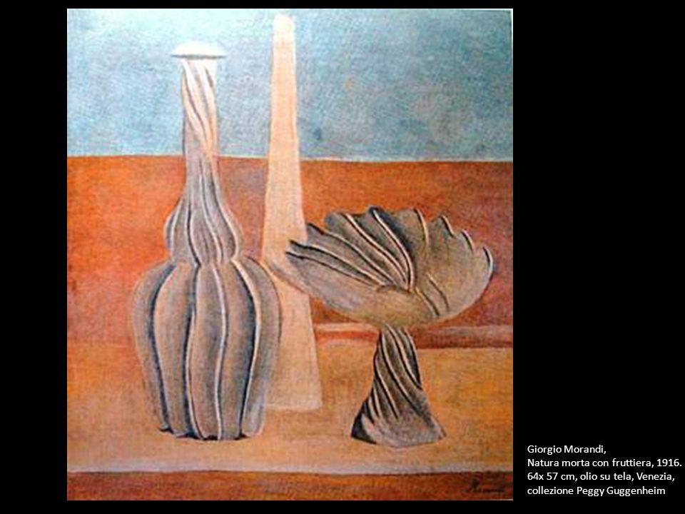 Giorgio Morandi, Natura morta con fruttiera, 1916. 64x 57 cm, olio su tela, Venezia, collezione Peggy Guggenheim