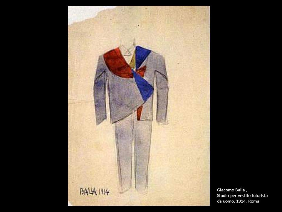 Giacomo Balla, Studio per vestito futurista da uomo, 1914, Roma