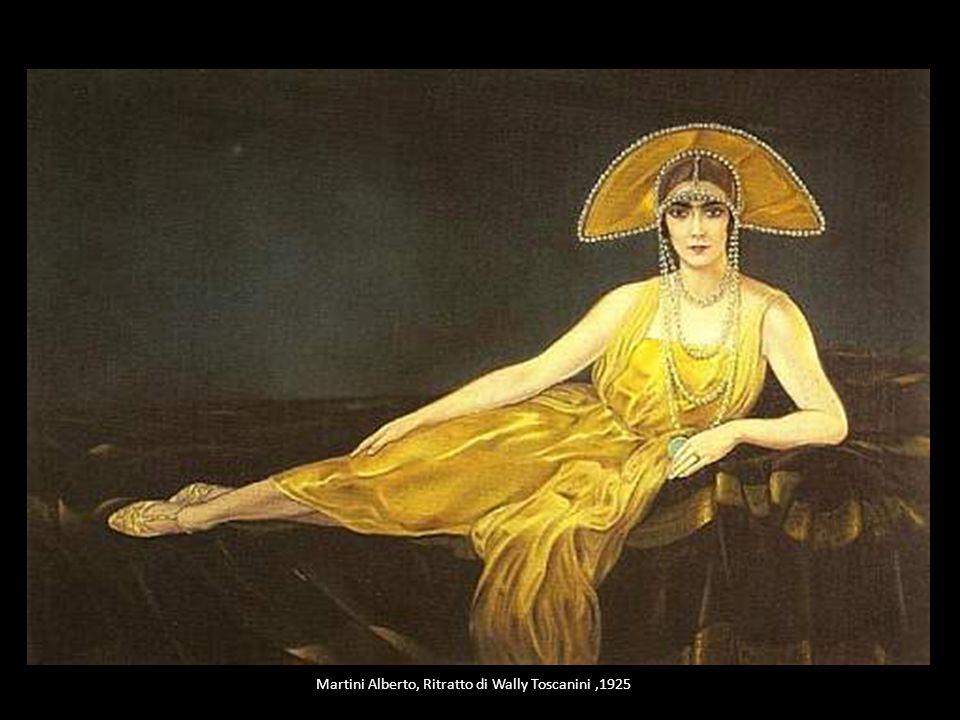 Martini Alberto, Ritratto di Wally Toscanini,1925
