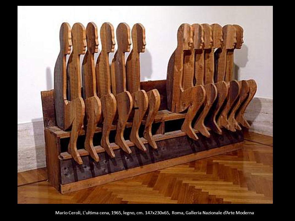 Mario Ceroli, Lultima cena, 1965, legno, cm. 147x230x65, Roma, Galleria Nazionale dArte Moderna
