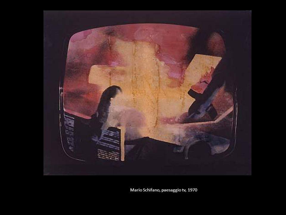 Mario Schifano, paesaggio tv, 1970