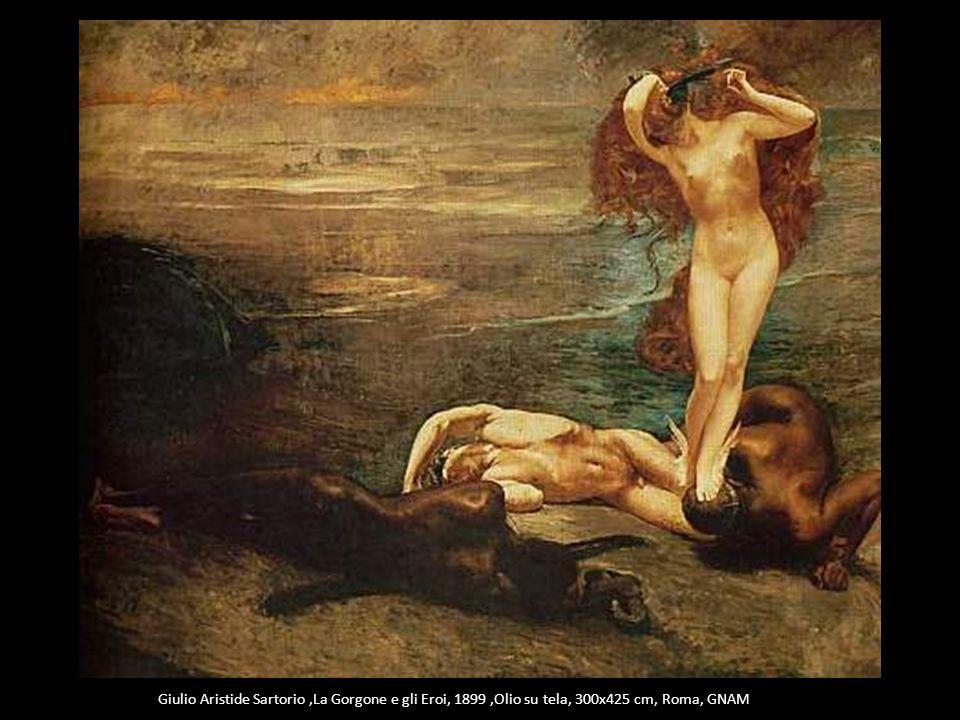 Giulio Aristide Sartorio,La Gorgone e gli Eroi, 1899,Olio su tela, 300x425 cm, Roma, GNAM