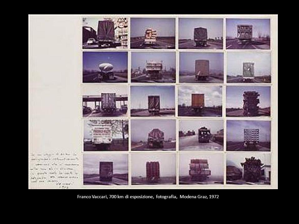 Franco Vaccari, 700 km di esposizione, fotografia, Modena Graz, 1972
