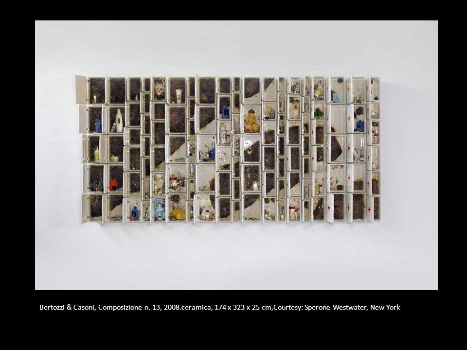 Bertozzi & Casoni, Composizione n. 13, 2008.ceramica, 174 x 323 x 25 cm,Courtesy: Sperone Westwater, New York