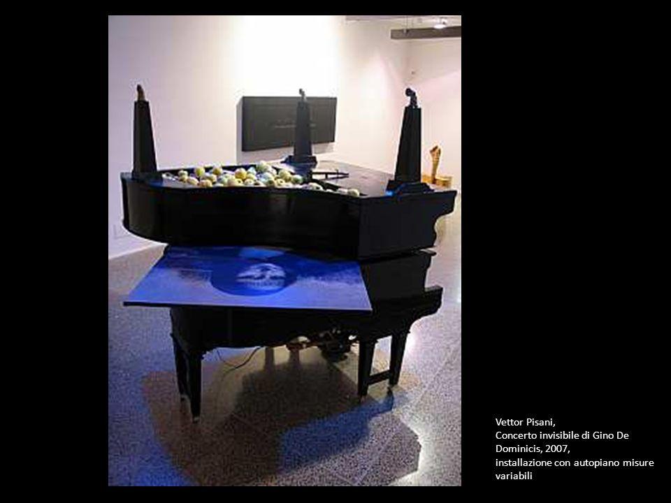 Vettor Pisani, Concerto invisibile di Gino De Dominicis, 2007, installazione con autopiano misure variabili