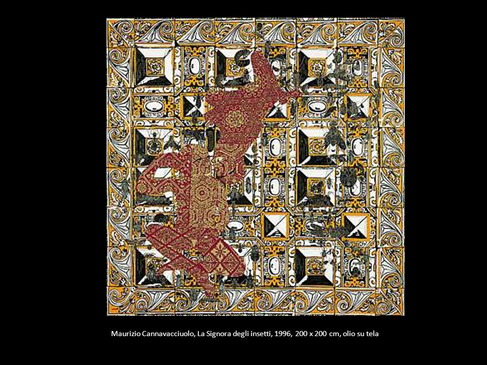 Maurizio Cannavacciuolo, La Signora degli insetti, 1996, 200 x 200 cm, olio su tela