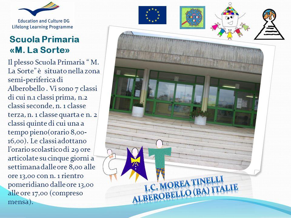 Il plesso Scuola Primaria M. La Sorte è situato nella zona semi-periferica di Alberobello. Vi sono 7 classi di cui n.1 classi prima, n.2 classi second