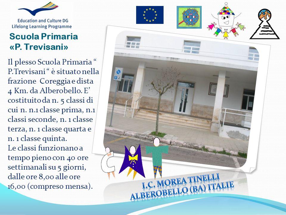 Il plesso Scuola Primaria P.Trevisani è situato nella frazione Coreggia e dista 4 Km. da Alberobello. E costituito da n. 5 classi di cui n. n.1 classe