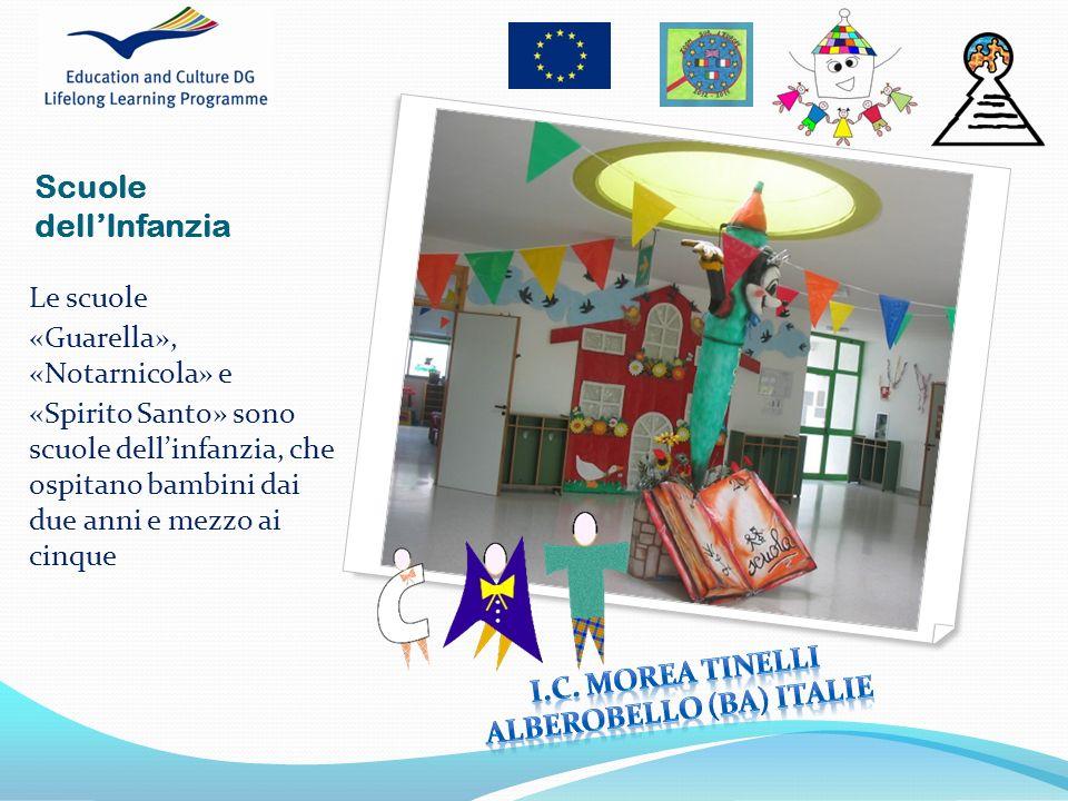 Le scuole «Guarella», «Notarnicola» e «Spirito Santo» sono scuole dellinfanzia, che ospitano bambini dai due anni e mezzo ai cinque Scuole dellInfanzi