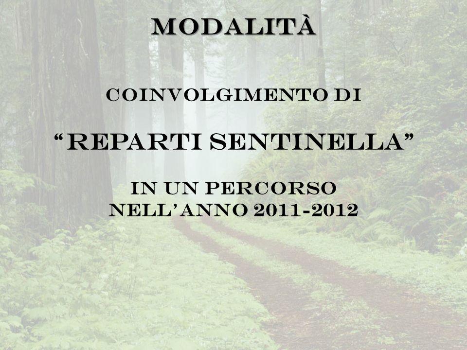 Modalità Coinvolgimento di Reparti Sentinella in un percorso nell'anno 2011-2012