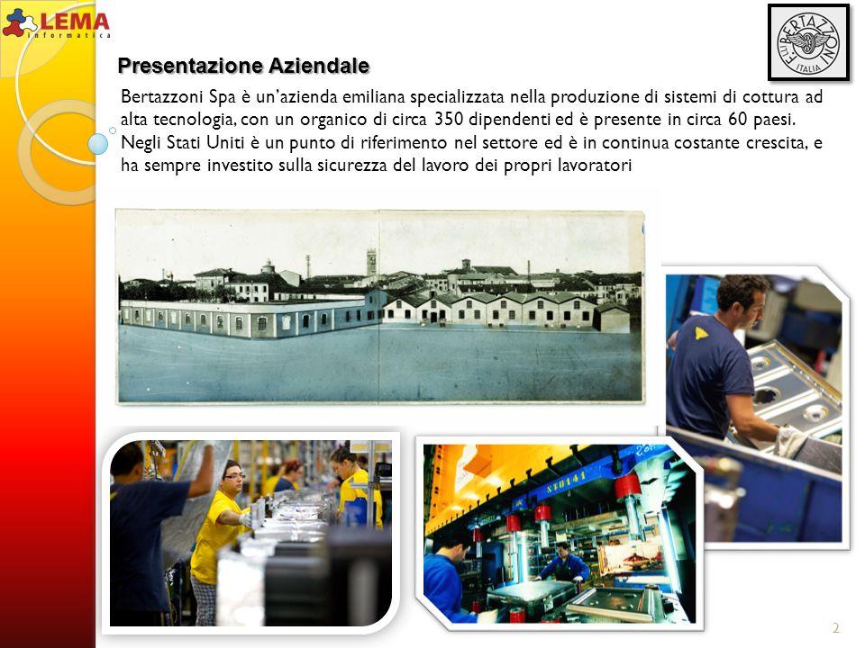 Bertazzoni Spa è unazienda emiliana specializzata nella produzione di sistemi di cottura ad alta tecnologia, con un organico di circa 350 dipendenti e
