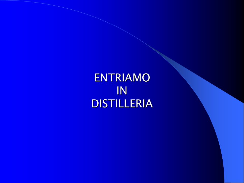 ENTRIAMO IN DISTILLERIA