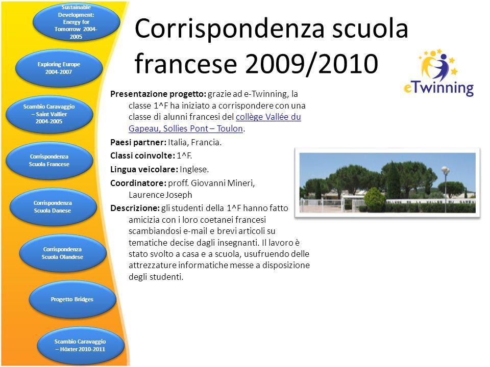 Presentazione progetto: grazie ad e-Twinning, la classe 1^F ha iniziato a corrispondere con una classe di alunni francesi del collège Vallée du Gapeau