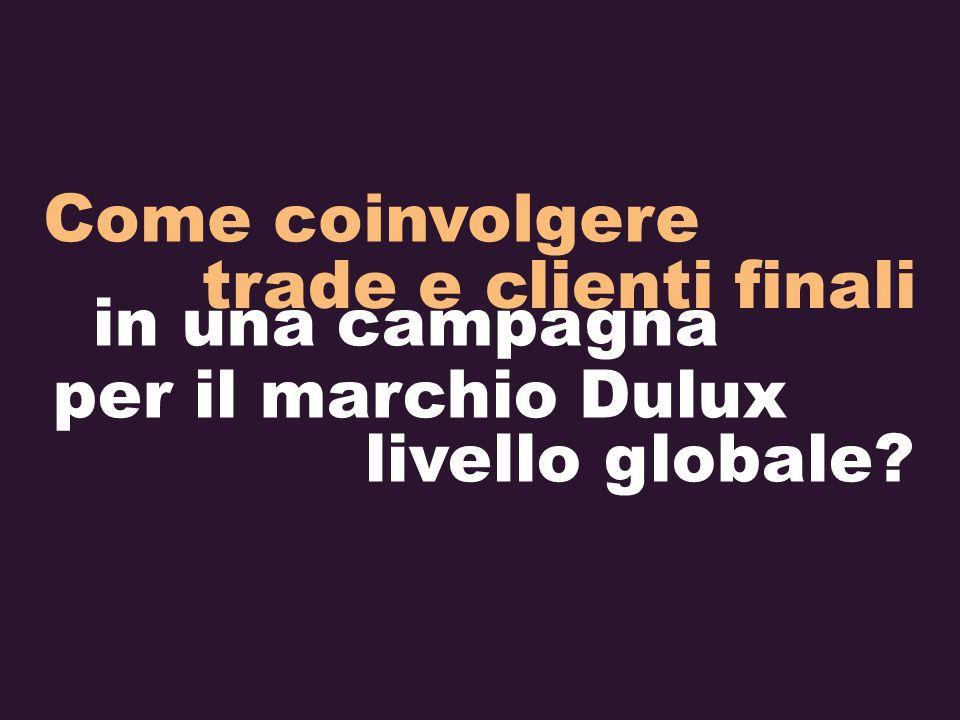 Come coinvolgere trade e clienti finali in una campagna per il marchio Dulux livello globale?