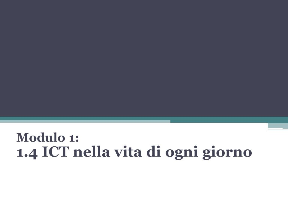 1.4.1.1 LICT ICT=Information Communication Technology.