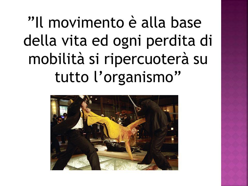 Il movimento è alla base della vita ed ogni perdita di mobilità si ripercuoterà su tutto lorganismo