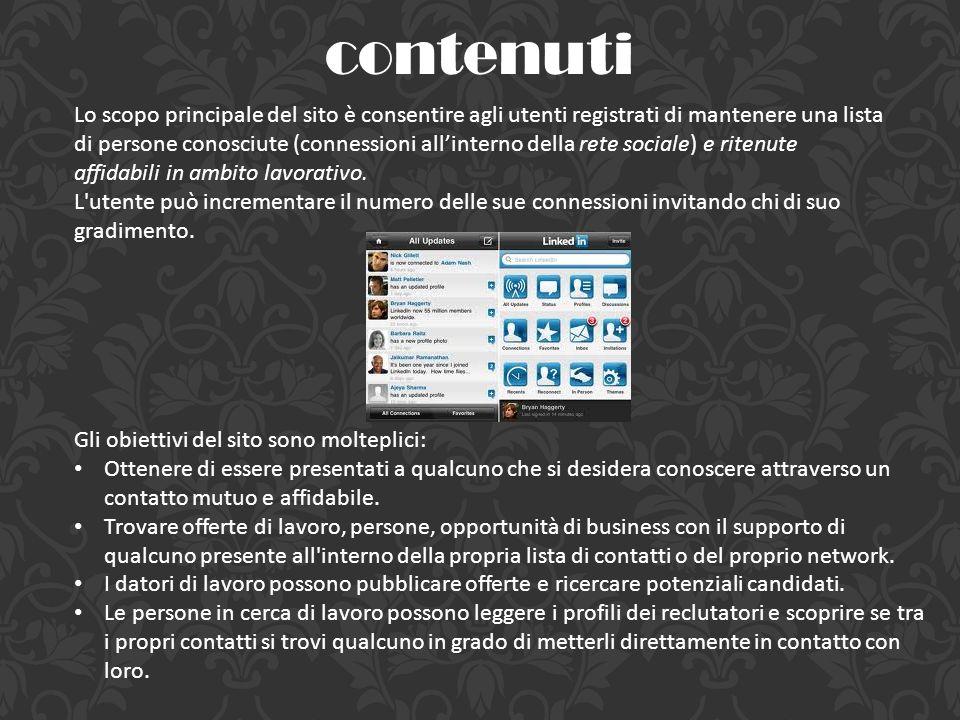 Gli obiettivi del sito sono molteplici: Ottenere di essere presentati a qualcuno che si desidera conoscere attraverso un contatto mutuo e affidabile.