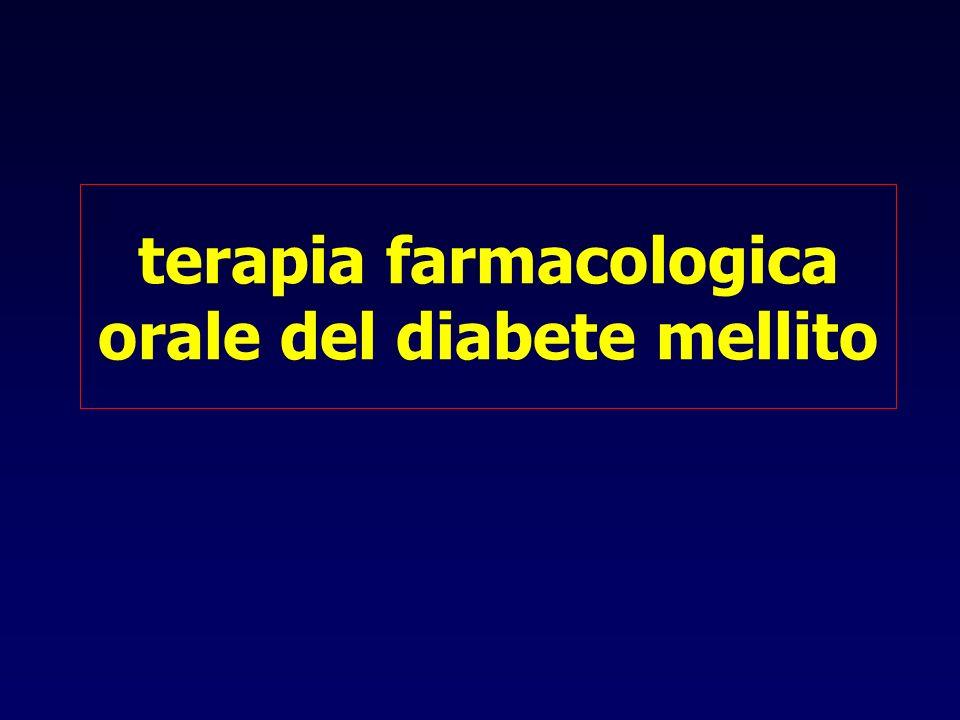terapia farmacologica orale del diabete mellito