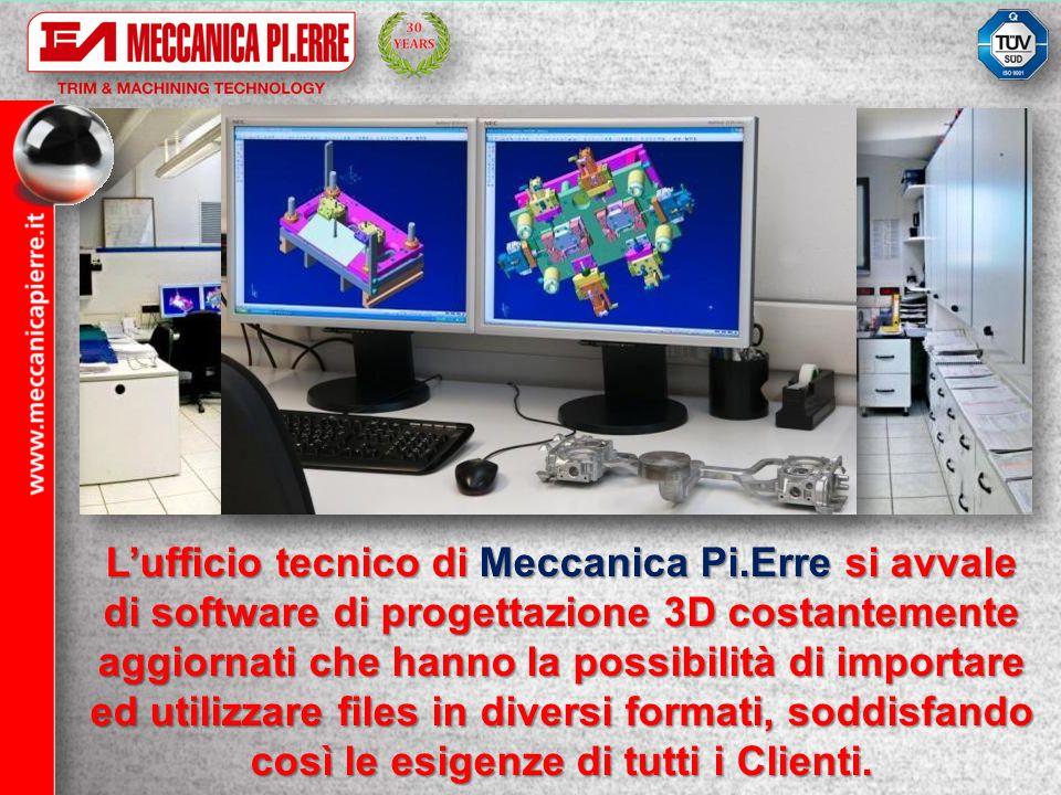 Lufficio tecnico di Meccanica Pi.Erre si avvale di software di progettazione 3D costantemente aggiornati che hanno la possibilità di importare ed util
