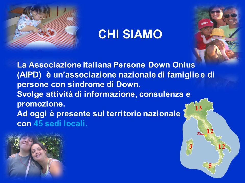 La Associazione Italiana Persone Down Onlus (AIPD) è unassociazione nazionale di famiglie e di persone con sindrome di Down.