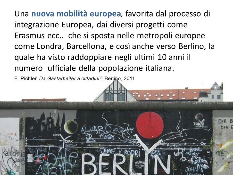 Una nuova mobilità europea, favorita dal processo di integrazione Europea, dai diversi progetti come Erasmus ecc.. che si sposta nelle metropoli europ