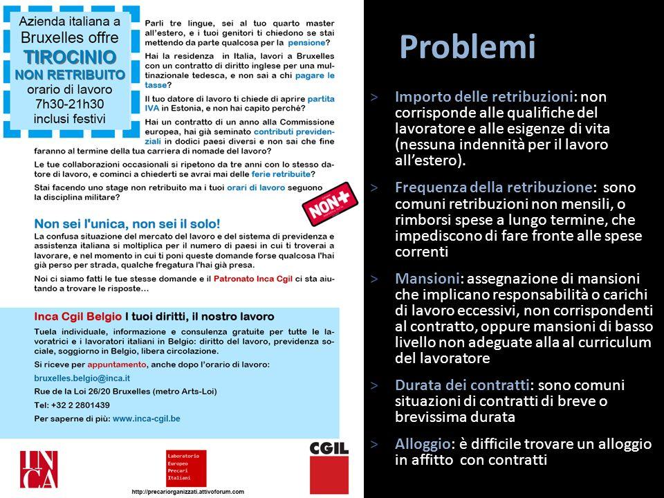 Problemi >Importo delle retribuzioni: non corrisponde alle qualifiche del lavoratore e alle esigenze di vita (nessuna indennità per il lavoro allester