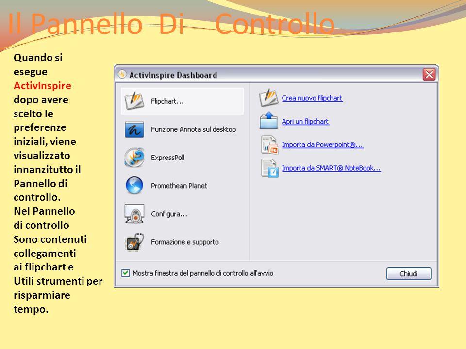 La Finestra Di Activinspire 1 Casella degli strumenti principale 2 Browser 3 Barra dei menu 4 Nome del flipchart 5 Informazioni sulle Dimensioni 6 Pagina del flipchart 7 Cestino dei flipchart All avvio di ActivInspire, viene visualizzata la finestra principale