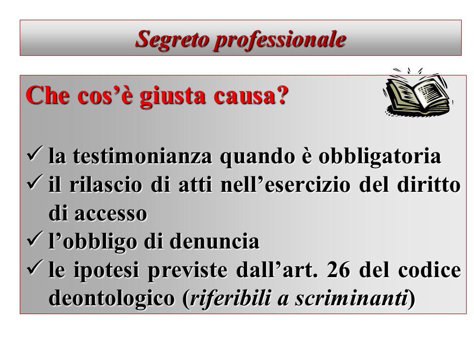 Segreto professionale – Quale tutela.
