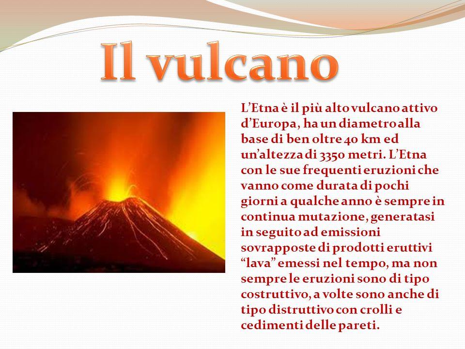 L Etna è un vulcano attivo.