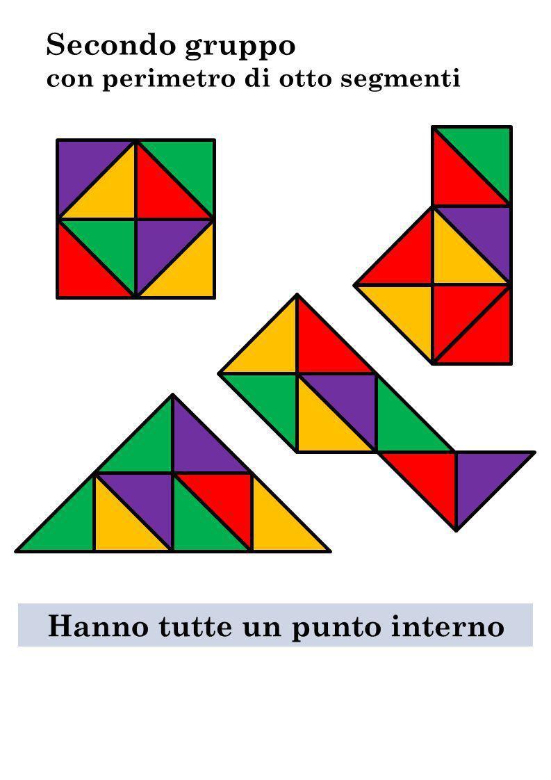 Secondo gruppo con perimetro di otto segmenti Hanno tutte un punto interno