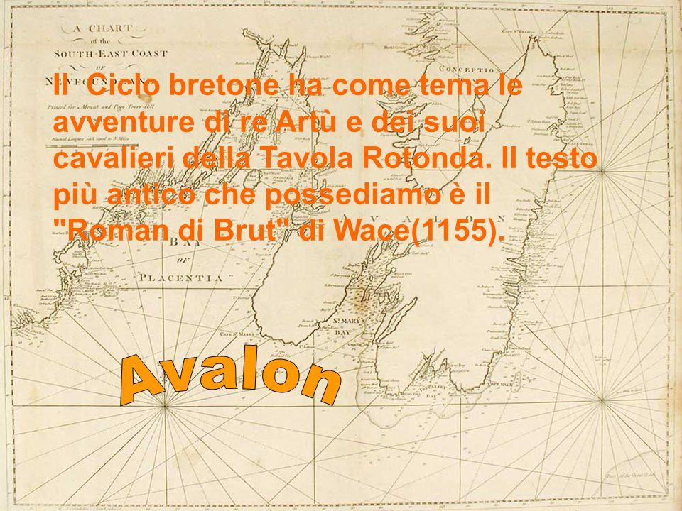 Il Ciclo bretone ha come tema le avventure di re Artù e dei suoi cavalieri della Tavola Rotonda. Il testo più antico che possediamo è il