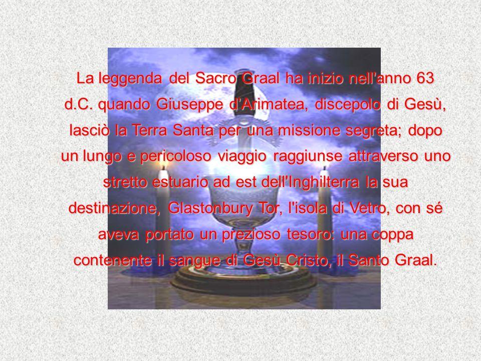 La leggenda del Sacro Graal ha inizio nell'anno 63 d.C. quando Giuseppe dArimatea, discepolo di Gesù, lasciò la Terra Santa per una missione segreta;