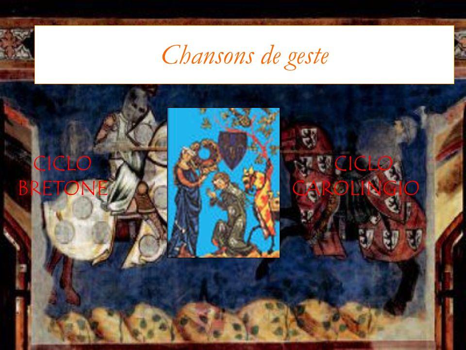 Il ciclo carolingio Molte sono le opere che narrano dei paladini di Carlo Magno in lotta con i saraceni.