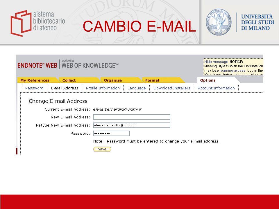 CAMBIO E-MAIL