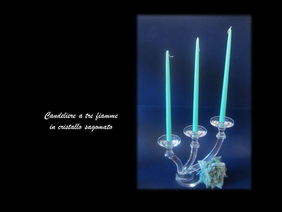Candeliere a tre fiamme in cristallo sagomato