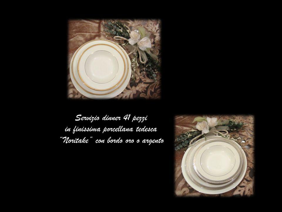 Servizio dinner 41 pezzi in finissima porcellana tedesca Noritake con bordo oro o argento