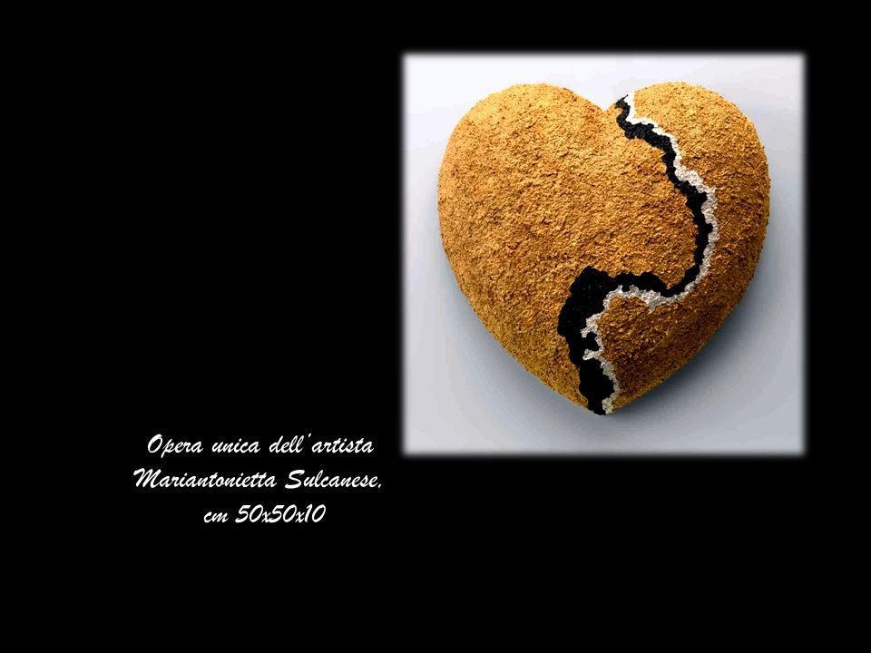 Opera unica dellartista Mariantonietta Sulcanese, cm 50x50x10
