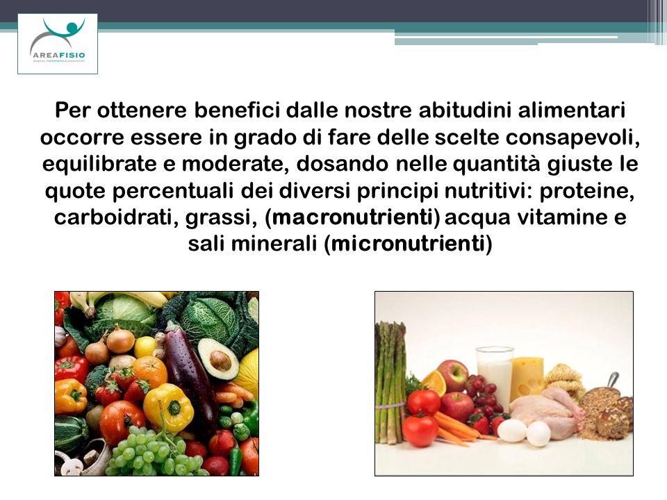 Per ottenere benefici dalle nostre abitudini alimentari occorre essere in grado di fare delle scelte consapevoli, equilibrate e moderate, dosando nell