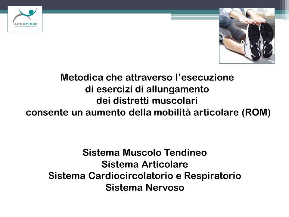Metodica che attraverso lesecuzione di esercizi di allungamento dei distretti muscolari consente un aumento della mobilità articolare (ROM) Sistema Mu