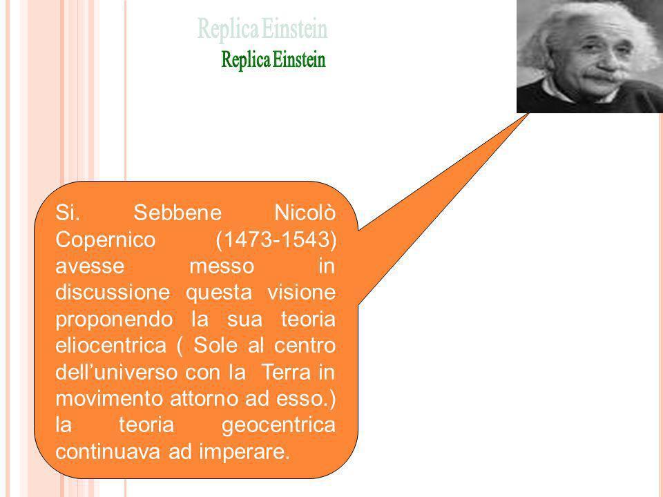 Si. Sebbene Nicolò Copernico (1473-1543) avesse messo in discussione questa visione proponendo la sua teoria eliocentrica ( Sole al centro dellunivers